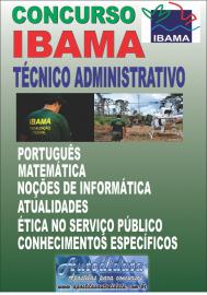 Apostila impressa concurso do IBAMA 2018 - Técnico Administrativo