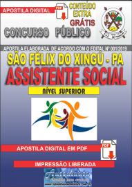 Apostila Digital concurso SÃO FÉLIX DO XINGU/PA - 2019 – Assistente Social