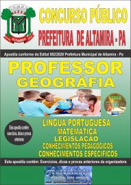 Apostila Impressa Concurso Prefeitura Altamira 2020 Área Professor de Geografia