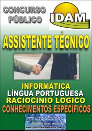 Apostila Digital Concurso IDAM - AM 2018 - Assistente Técnico