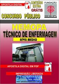 Apostila digital concurso do HEMOPA 2019 - TÉCNICO DE ENFERMAGEM