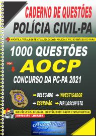 Apostila Digital Caderno de Questões PC-PA 2021 1000 Questões Gabaritadas