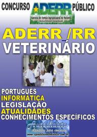 Apostila Impressa Concurso ADERR-RR - MÉDICO VETERINÁRIO