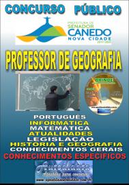 Apostila Impressa SENADOR CANEDO/GO 2020 - Professor De Geografia