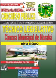 Apostila digital concurso público Câmara Municipal de Marabá - Pa 2020 Nível Médio Técnico Legislativo