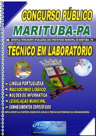 Apostila Impressa Concurso Público Prefeitura de  Marituba - PA 2020 Técnico em Laboratório