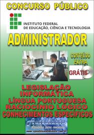 Apostila Impressa ConcursoINSTITUTO FEDERAL DE EDUCAÇÃO, CIÊNCIA E TECNOLOGIA DO PARÁ - IFPA - PA - 2019 - Administrador