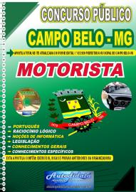 Apostila Impressa Concurso Público Prefeitura de Campo Belo - MG 2020 Motorista