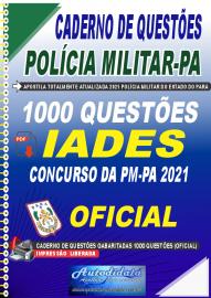 Apostila Digital Caderno de Questões PM-PA 2021 1000 Questões Gabaritadas Oficial