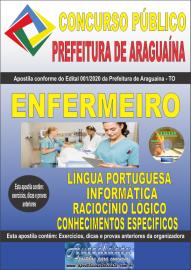 Apostila Impressa Concurso Público Prefeitura Araguaína - TO 2020 Área Enfermeiro