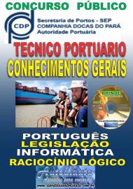 Apostila Impressa Concurso COMPANHIA DOCAS DO PARÁ - 2019 - Técnico Portuário - Conhecimentos Gerais