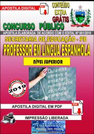 Apostila Digital Concurso SEECT/PB - 2019 - Professor De Língua Espanhola