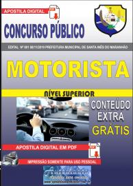 Apostila Digital Concurso Prefeitura Municipal de Santa Inês - Maranhão 2019 Motorista