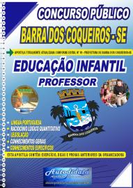 Apostila Impressa Concurso Público Prefeitura de Barra dos Coqueiros - SE 2020 Professor de Educação Infantil