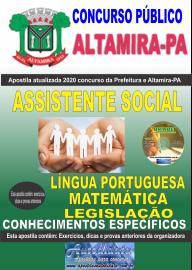 Apostila Impressa Concurso Prefeitura de Altamira - PA 2020 -  Assistente Social