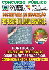 Apostila Impressa Concurso SEECT/PB - 2019 - Professor De Língua Espanhola