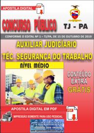 Apostila Digital do Concurso TJ-PA 2019 - AUXILIAR JUDICIÁRIO TÉCNICO DE SEGURANÇA DO TRABALHO