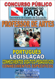 Apostila impressa Concurso SEDUC-PA 2018 - Professor de Artes