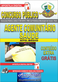 Apostila Digital Concurso Público Prefeitura Municipal de Curuá - Pará 2019 Agente Comunitário em Saúde