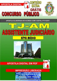 Apostila digital TJ-AM 2019 - Tribunal de Justiça do Amazonas - Assistente Judiciário