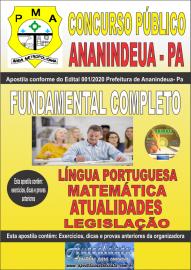 Apostila Impressa Concurso Público Prefeitura de Ananindeua - PA 2020 Nível Fundamental Completo