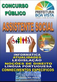 Apostila Impressa BOA VISTA/RR 2019 - Assistente social