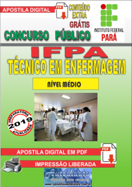 Apostila Digital concurso IFPA 2019 – Técnico Em Enfermagem