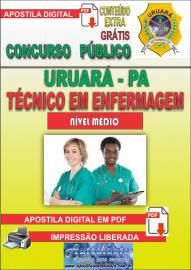 Apostila Digital Processo Seletivo de URUARÁ/PA 2019 – Técnico Em Enfermagem