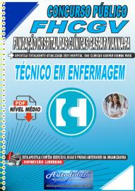 Apostila Digital Concurso FHCGV-Fundação Hospital Clínicas Gaspar Vianna-PA 2021 Técnico em Enfermagem
