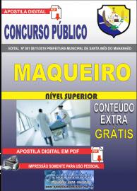 Apostila Digital Concurso Prefeitura Municipal de Santa Inês - Maranhão 2019 Maqueiro