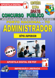 Apostila Digital Concurso da Prefeitura de Porto Nacional - TO – 2019 - Administrador