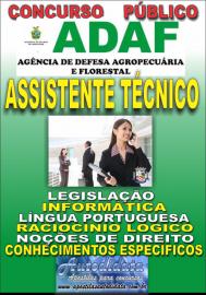 Apostila Impressa Concurso ADAF - AM - 2018 - Assistente Técnico