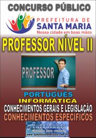 Apostila impressa concurso de Santa Maria do Pará 2018 - Professor Nível II