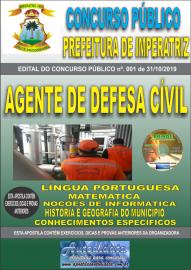 Apostila Impressa Concurso - Prefeitura Municipal de Imperatriz - MA 2019 - Agente de Defesa Cível