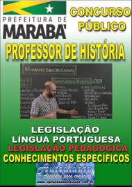 Apostila Impressa Concurso MARABÁ - PA 2018 - Professor Licenciado Em História