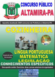 Apostila Impressa Concurso Prefeitura de Altamira - PA 2020 - Cozinheira