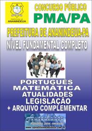 Apostila Impressa ANANINDEUA/PA 2019 - Nível Fundamental Completo
