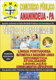 Apostila Impressa Concurso Público Prefeitura de Ananindeua - PA 2020 Área Técnico de Enfermagem