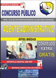 Apostila Digital Concurso Prefeitura Municipal de Santa Inês - Maranhão 2019 Agente Administrativo