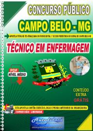 Apostila Digital Concurso Público Prefeitura de Campo Belo - MG 2020 Técnico em Enfermagem
