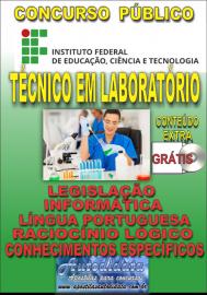 Apostila Impressa Concurso INSTITUTO FEDERAL DE EDUCAÇÃO, CIÊNCIA E TECNOLOGIA DO PARÁ - IFPA - PA - 2019 - Técnico em laboratório