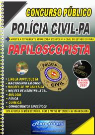 Apostila Impressa Concurso Público Polícia Civil do Pará 2020 Área Papiloscopista