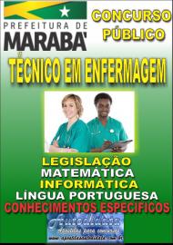Apostila Impressa Concurso MARABÁ - PA 2018 - Técnico em Enfermagem