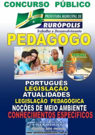 Apostila Impressa Concurso PREFEITURA MUNICIPAL DE RURÓPOLIS - PA - 2019 - Pedagogo/Assistência