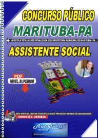Apostila Digital Concurso Público Prefeitura de  Marituba - PA 2020  Assistente Social