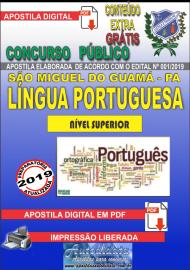 Apostila Digital SÃO MIGUEL DO GUAMÁ/PA 2019 - Professor De Língua Portuguesa