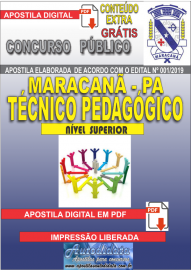 Apostila Digital MARACANÃ/PA 2019 - Técnico Pedagógico