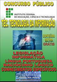Apostila Digital Concurso INSTITUTO FEDERAL DE EDUCAÇÃO, CIÊNCIA E TECNOLOGIA DO PARÁ - IFPA - PA - 2019 - Técnico de tecnologia da informação
