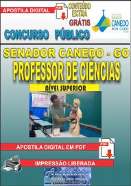 Apostila Digital SENADOR CANEDO/GO 2020 - Professor De Ciências