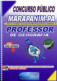 Apostila Digital Concurso Público Prefeitura de Marapanim - PA 2020 Professor de Geografia